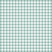 Grandma's Kitchen- Light Blue Gingham Paper