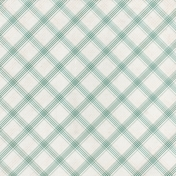 Grandma's Kitchen- Light Blue Plaid Paper