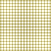 Grandma's Kitchen- Light Green Gingham Paper