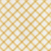 Grandma's Kitchen- Mustard Plaid Paper