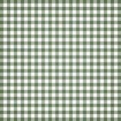 Grandma's Kitchen- Olive Gingham Paper