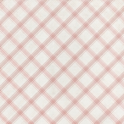 Grandma's Kitchen- Pink Plaid Paper
