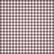 Grandma's Kitchen- Plum Gingham Paper