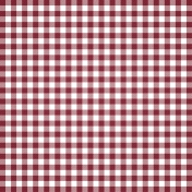 Grandma's Kitchen- Red Gingham Paper