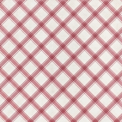 Grandma's Kitchen- Red Plaid Paper