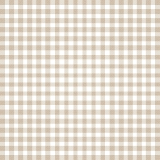 Grandma's Kitchen- Tan Gingham Paper
