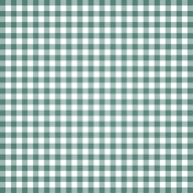 Grandma's Kitchen- Teal Gingham Paper