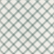 Grandma's Kitchen- Teal Plaid Paper