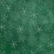 Winter Wonderland - Green Doodle Snowflake Paper