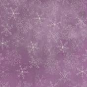 Winter Wonderland- Purple Doodle Snowflake Paper