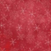 Winter Wonderland - Red Doodle Snowflake Paper