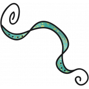 Tiny, but Mighty- Teal Banner Doodle