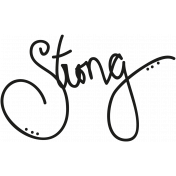 Tiny, But Mighty- Strong Word Art Doodle