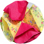 Tiny, But Mighty Pink and Yellow Fabric Flower