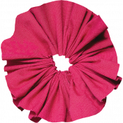 Tiny, But Might Pink Accordion Fabric Flower 02