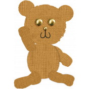 Tiny, But Mighty Burlap Teddy Bear