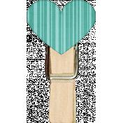 Tiny, But Mighty Heart Clothespin 01
