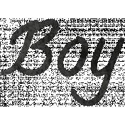 Tiny, But Mighty Boy Word Art