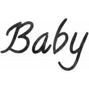 Tiny, But Mighty Baby Word Art