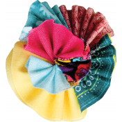 Tiny, But Mighty Multi Colored Fabric Flower 05