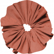 Tiny, But Mighty Orange Fabric Flower 02