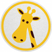 Tiny, But Mighty Giraffe Sticker