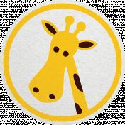 Tiny, But Mighty Giraffe Sticker