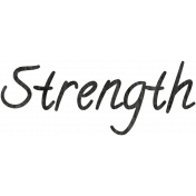 Tiny, But Mighty Strength Word Art