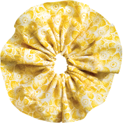 Tiny, But Mighty Yellow Accordion Fabric Flower
