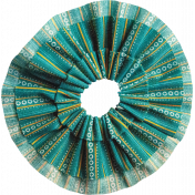 Tiny, But Mighty Teal Accordion Fabric Flower
