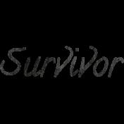 Tiny, But Mighty Survivor Word Art
