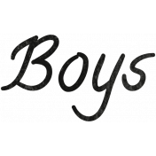Tiny, But Mighty Boys Word Art