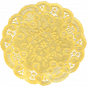 Tiny, But Mighty Yellow Doily