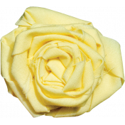 Tiny, But Mighty Yellow Fabric Rose