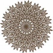 Be Mine- Dark Brown Doily