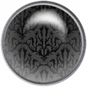 Be Mine- Black Damask Fabric Brad