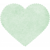 Be Mine- Mint Scalloped Heart