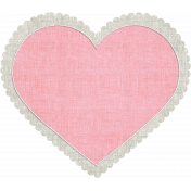 Be Mine- Pink Stitched Fabric Heart