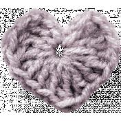 Be Mine- Purple Crochet Heart