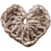 Be Mine - Brown Crochet Heart