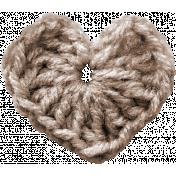 Be Mine- Brown Crochet Heart