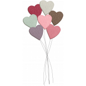 Be Mine- Shadowed Glitter Balloon Bouquet