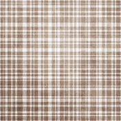 Be Mine - Brown Plaid Fabric Paper