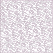 Be Mine- Purple Cutout Hearts Paper