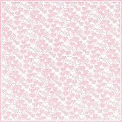 Be Mine- Pink Cut Out Hearts Paper