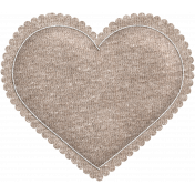 Be Mine- Brown Knit Puffy Heart