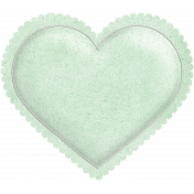 Be Mine- Mint Green Puffy Heart