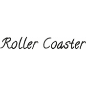 Tiny, But Mighty Roller Coaster Word Art