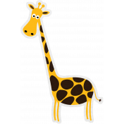 Tiny, But Mighty Giraffe Sticker 02