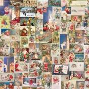 Christmas Memories- Christmas Postcard Paper